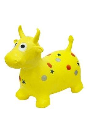 Nubutik's Çocuk Sarı Desenli Şişme Zıp Zıp Hayvanlar