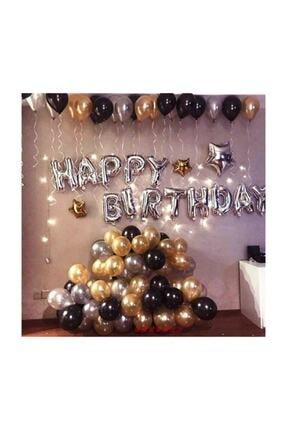 Kullan At Market Happy Birthday Doğum Günü Balonu Kombini Gümüş Kb1251