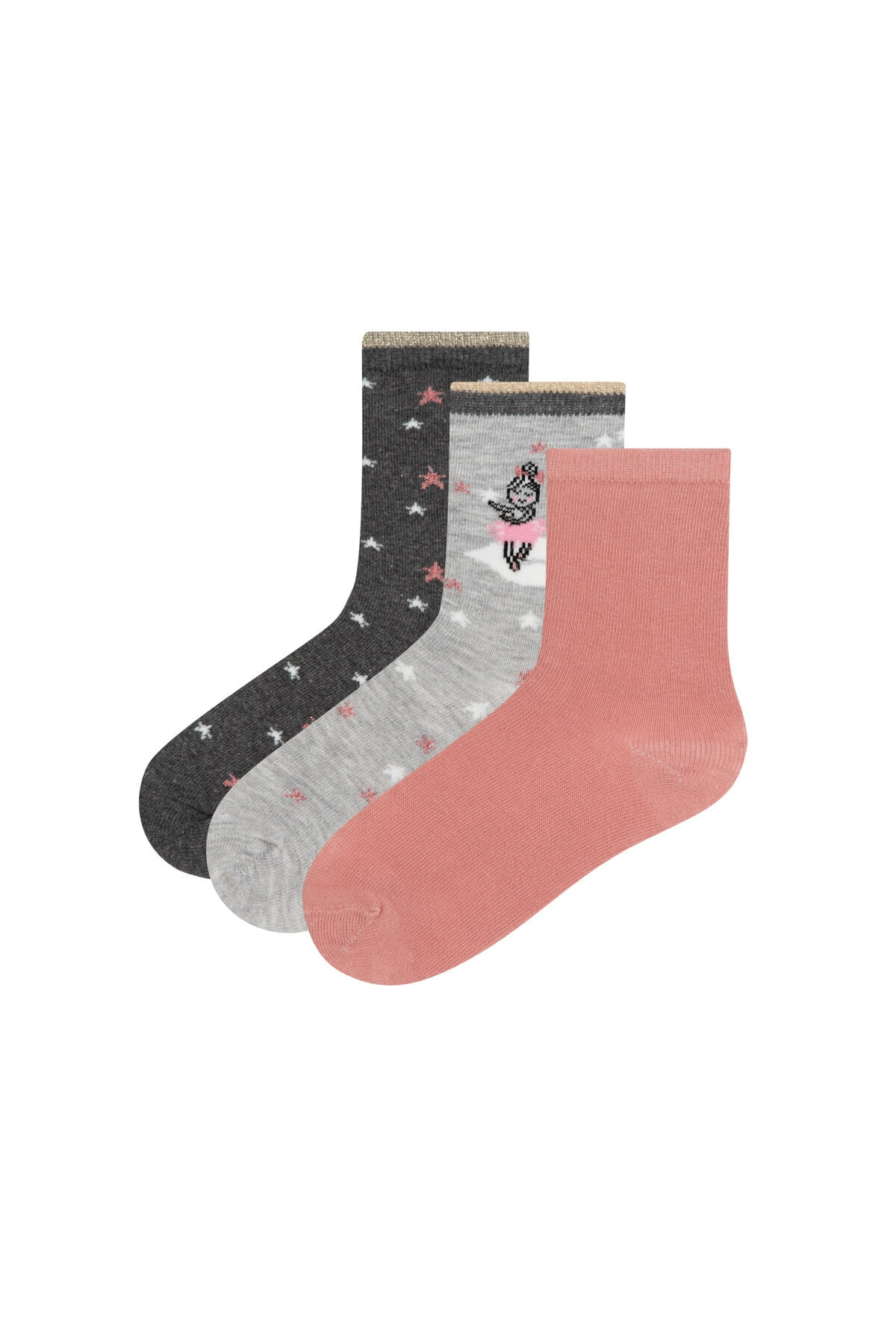 Penti Çok Renkli Kız Çocuk Swan Princess 3Lü Soket Çorap