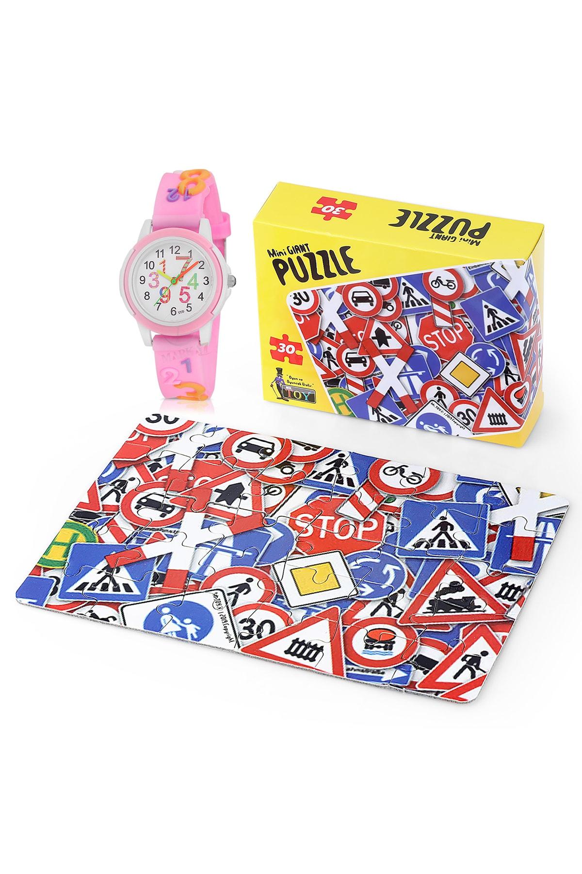Polo Air Çocuk Kol Saati Ve Eğitici 30 Parça Mini Puzzle Hediyesi Ile Birlikte Ck-0019c8 1