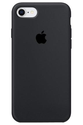 """Cekuonline Iphone 6s Plus 5.5"""" Logolu Lansman Kılıf Altı Kapalı Iç Kısmı Kadife - Siyah"""