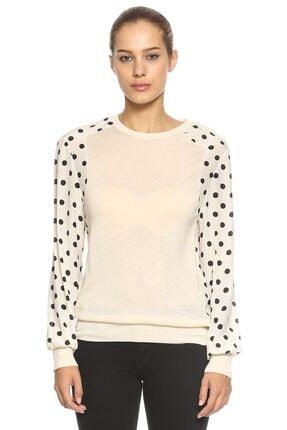 EMANUEL UNGARO Kadın Beyaz Kol Detaylı Bluz
