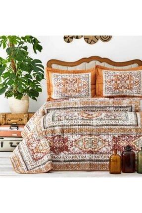 Karaca Home Rubi Hardal Çift Kişilik Yatak Örtüsü Set