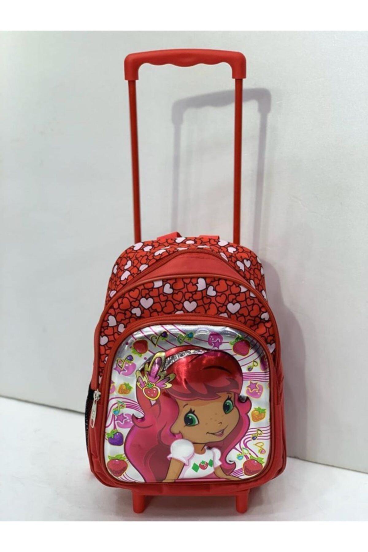 Vk&Vk Anaokulu Çekçekli Çanta Çilek Kız Çekçeği Ayrılabilen 2 Gözlü 1