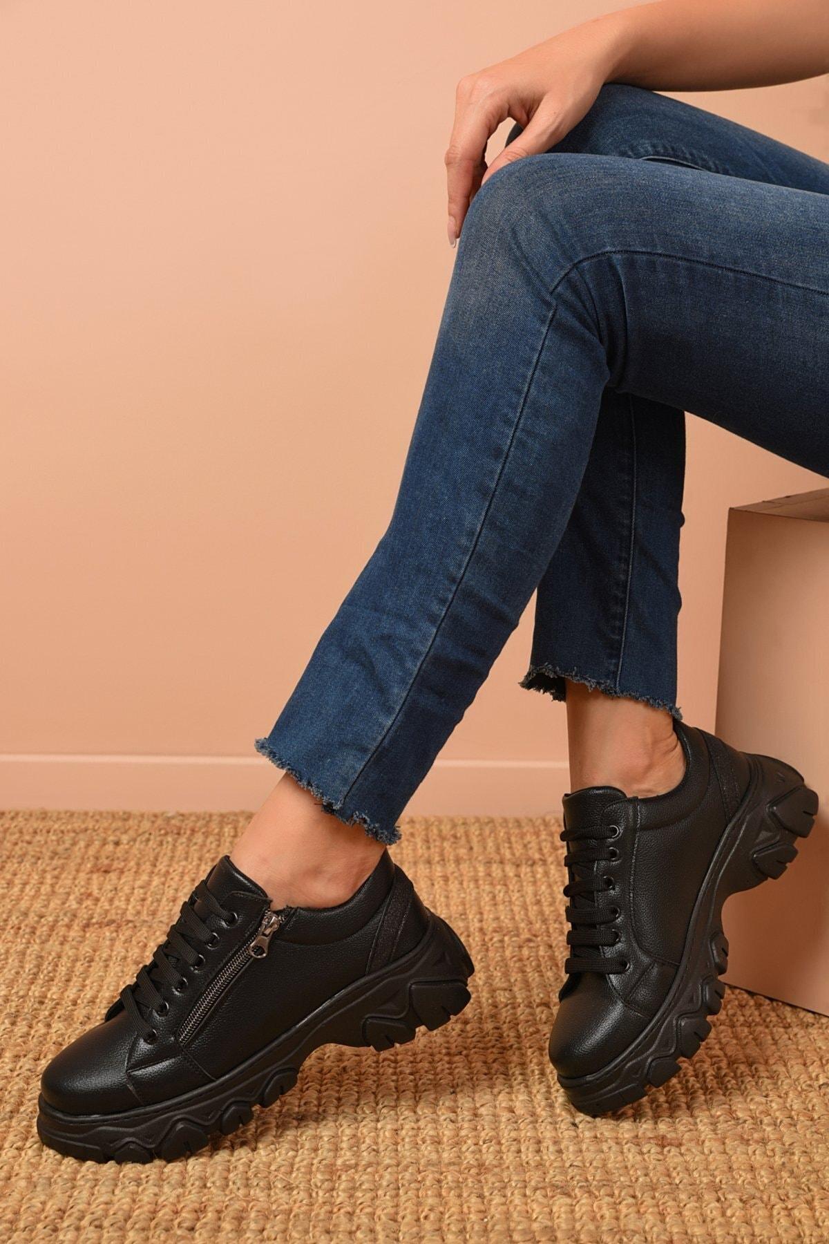 Shoes Time Kadın Siyah Günlük Ayakkabı 20k 177 1