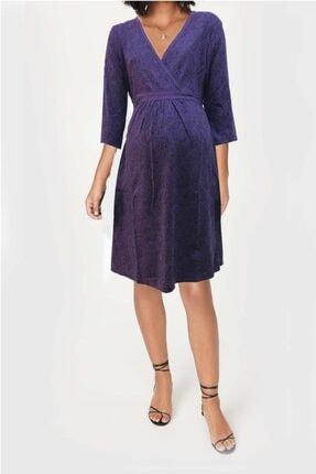 Gaiamom Kadın Mor Kruvaze Elbise