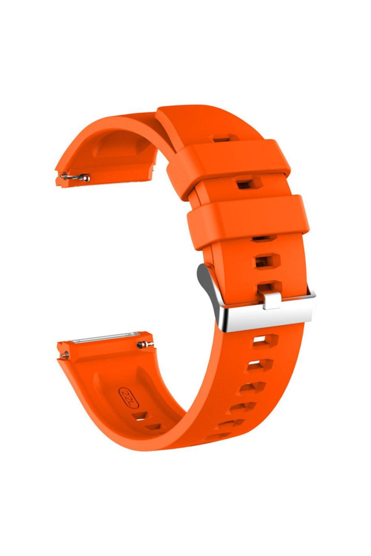 Microsonic Huawei Watch Gt2 Pro Kordon, Silicone Rapidbands Turuncu 1