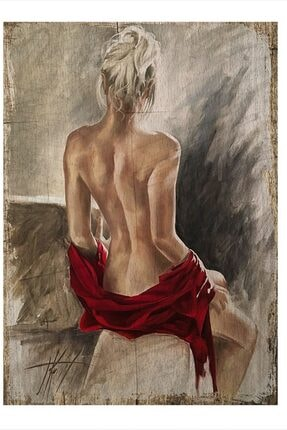 Tablomega Nü Kadın Resmi Modern Ahşap Tablo 50cm X 70cm