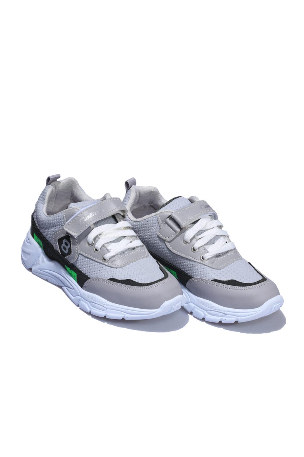 Callion Gri Yeşil Çocuk Spor Ayakkabı 2
