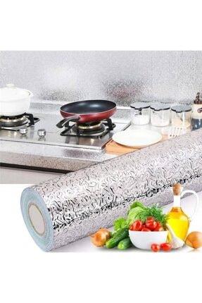 Kyrotech Yapışkanlı Folyo Alüminyum Folyo Yapışkanlı Çekmece Duvar Kaplama Gümüş Renk 100 X 40cm