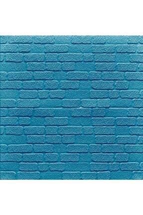 Renkli Duvarlar Nw33 Mini Mavi Taş Arkası Yapışkanlı Esnek Silinebilir Duvar Paneli