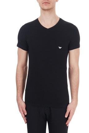Emporio Armani Erkek Siyah V Yaka Slim Fit T Shirt 110810 Cc729 00020
