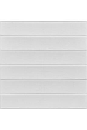 Renkli Duvarlar Nw43 Beyaz Ahşap Arkası Yapışkanlı Esnek Silinebilir Duvar Paneli