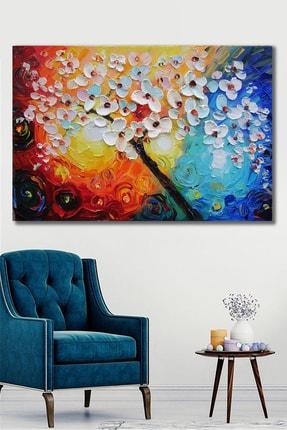 Hediyeler Kapında 100x140 Yağlı Boya Görünümlü Renkli Kanvas Tablo