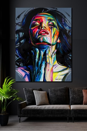 Hediyeler Kapında 70x100 Woman & Art Kanvas Tablo