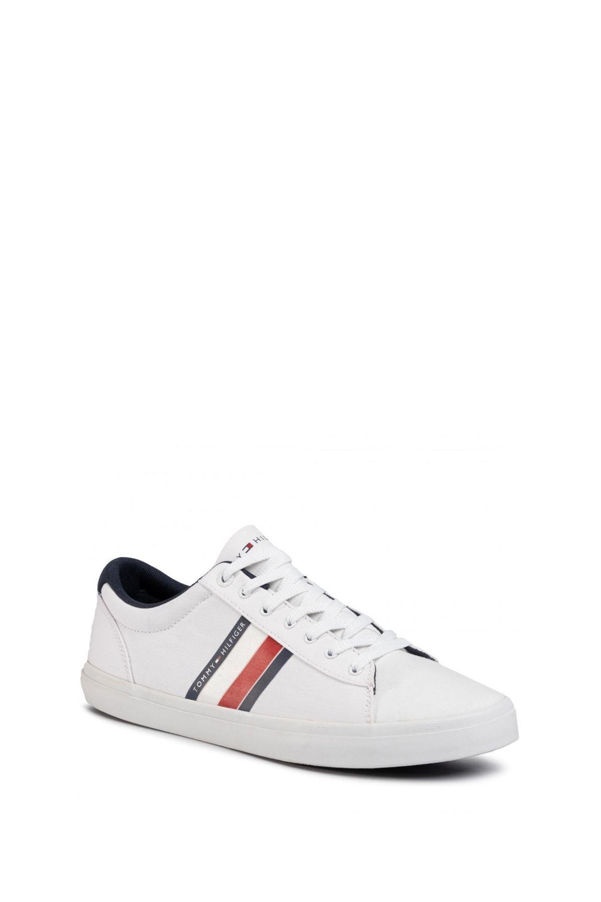 Tommy Hilfiger Erkek Beyaz Sneaker Fm0fm02685 1