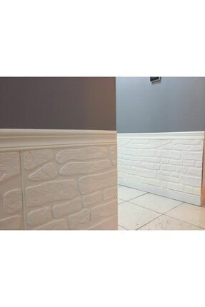 Renkli Duvarlar Nw72 Beyaz Kayrak Taş Arkası Yapışkanlı Esnek Silinebilir Duvar Paneli