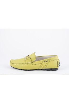 ALBERTO GUARDIANI Erkek Ye��il Deri Loafer Ayakkabı