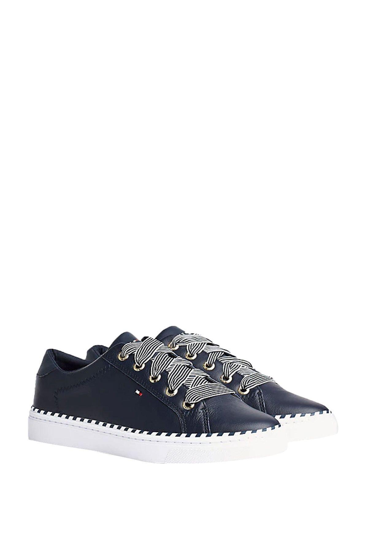 Tommy Hilfiger Kadın Nautical Lace Up Sneaker Fw0fw04689 1