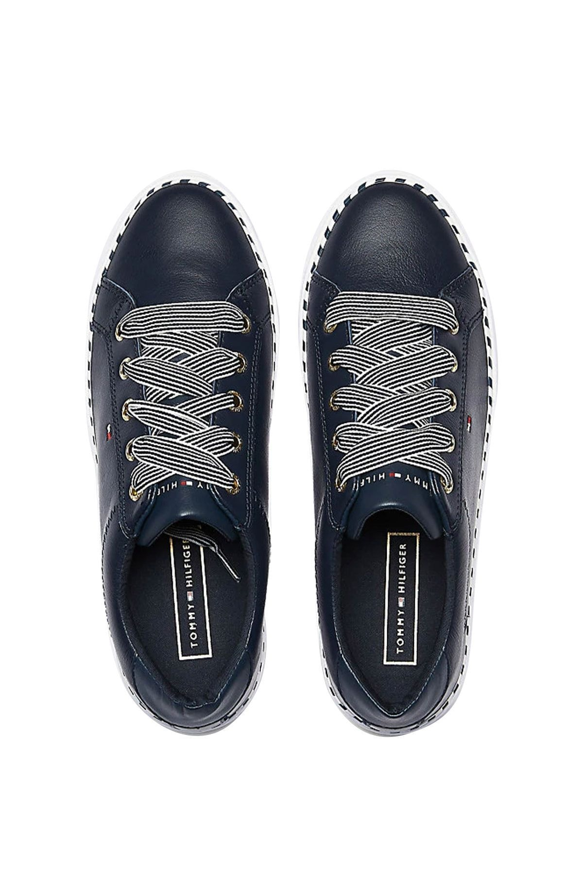Tommy Hilfiger Kadın Nautical Lace Up Sneaker Fw0fw04689 2