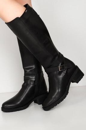 G.Ö.N Kadın Siyah Çizme 20575