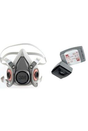 3M 6200 Gaz Maskesi + 6038 P3 Filtre Kombine Set Yapialetleri