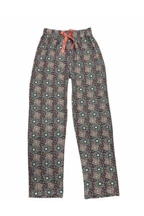 OMODAM Kadın Likralı Viskon Pamuk Rahat Kumaş Desenli Pijama Altı