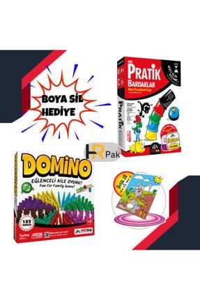 Redka 2'li Set Pratik Bardaklar-domino Eğlenceli Aile Oyunu Hediyeli