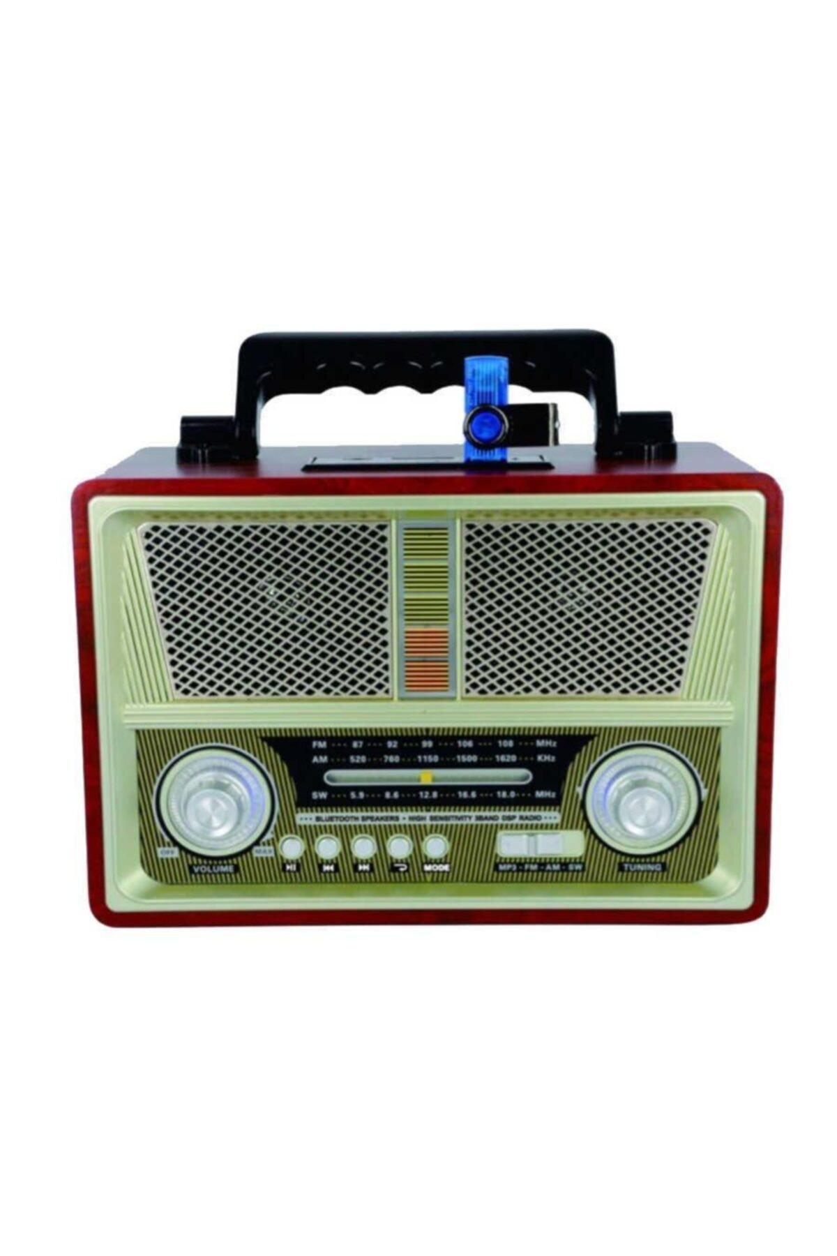 zore Nostaljik Radyo Görünümlü Bluetooth Speaker Ses Bombası 2