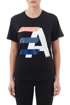 Emporio Armani Kadın Siyah Pamuklu Bisiklet Yaka T Shirt 6h2t7ı 2j07z 0999
