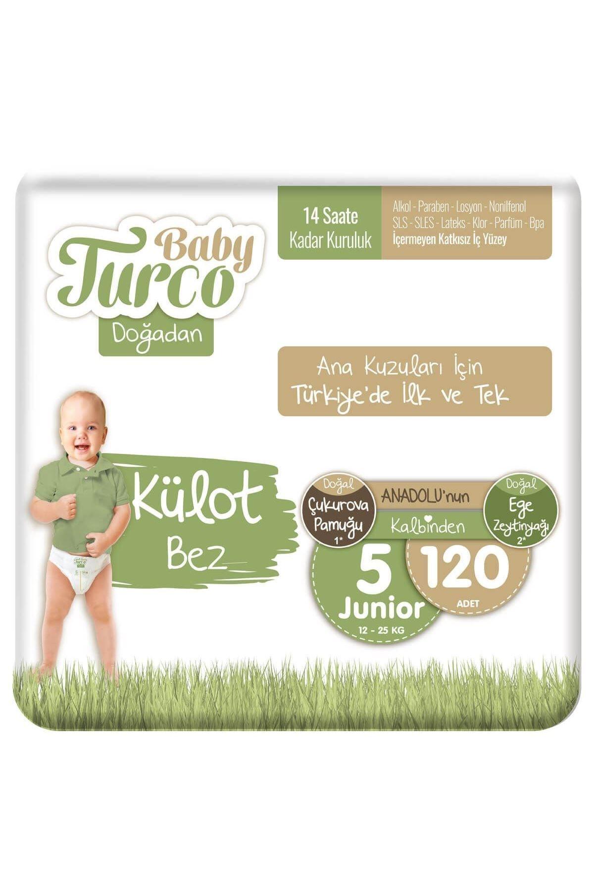 Baby Turco Doğadan Külot Bez 5 Numara Junıor 120 Adet 2