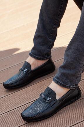 MUGGO Erkek Siyah Loafer Ayakkabı