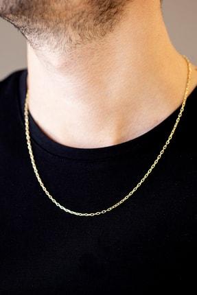 Cenova Kuyumculuk Erkek 14 Ayar Altın Sarı Zincir Kolye - 55 cm