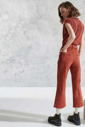 Yargıcı Kadın Kiremit Çift Düğme Detaylı Pantolon 0KKPN3120X