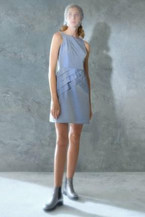 Yargıcı Kadın Açık Mavi Panel Detaylı Elbise 0KKEL7018X