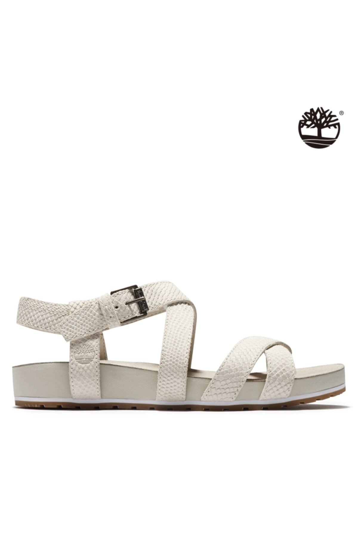 Timberland Kadın Beyaz Sandalet A2atv 2