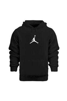 Rafftan Aır Jordan , Basketbol Baskılı Unısex Siyah Hoodie ,sweatshırt