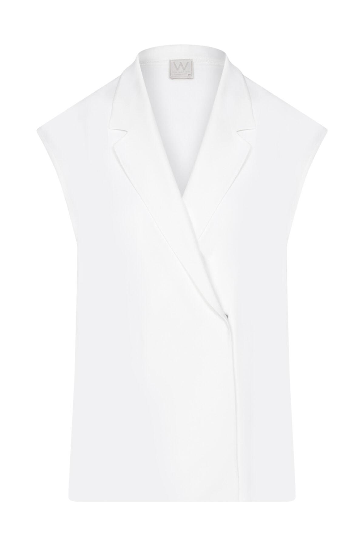 W Collection Ekru Anvelop Kolsuz Bluz 1