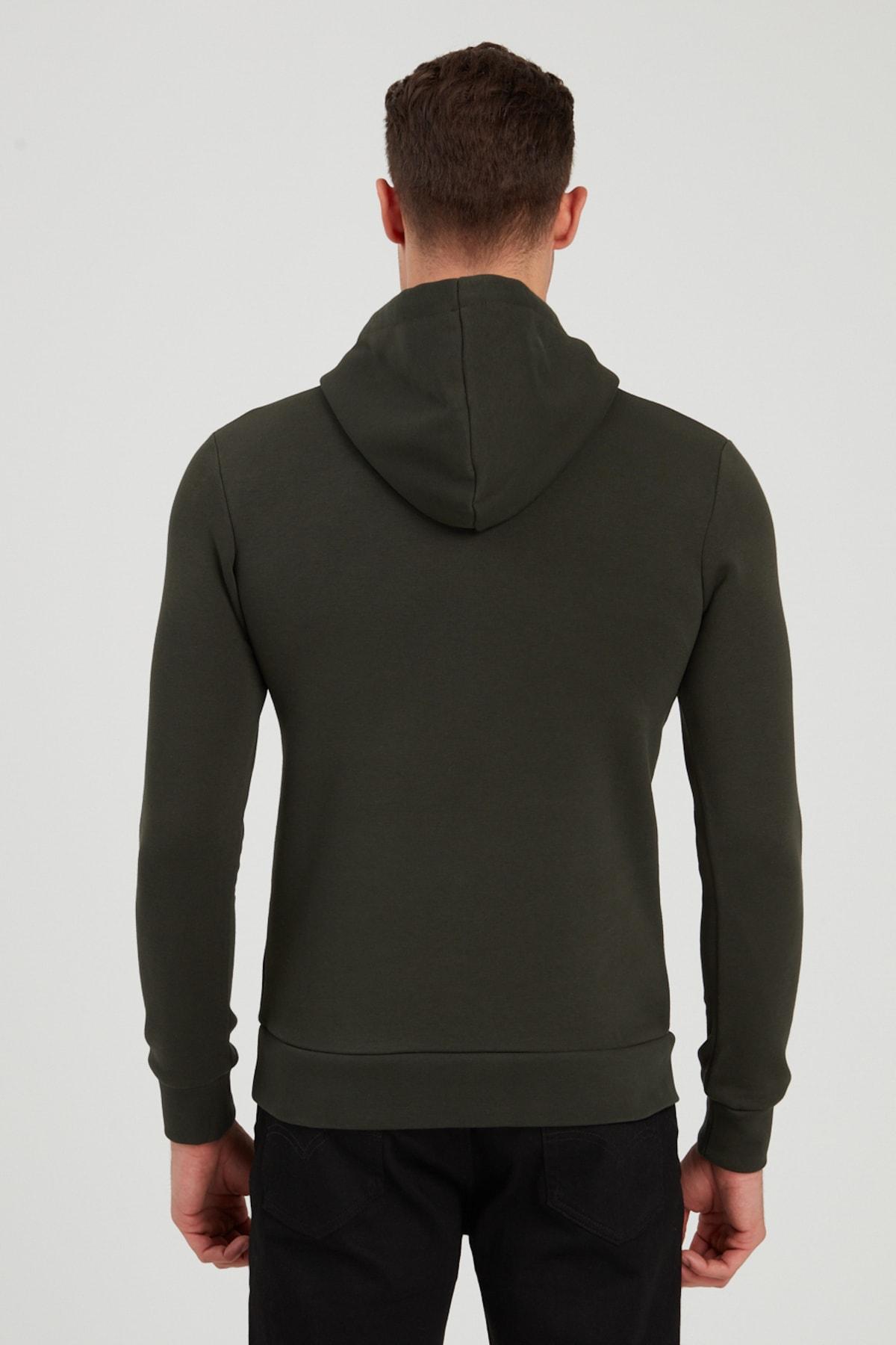 Jack & Jones JCOVIBE SWEAT HOOD KA Antrasit Erkek Sweatshirt 101016186 2