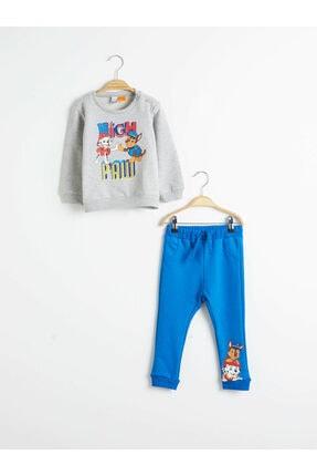 LC Waikiki Nickelodeon Erkek Bebek Gri Melanj D5P Bebek Takımları