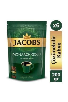 Jacobs Monarch Gold 200g * 6 Adet Ekopaket Hazır Kahve