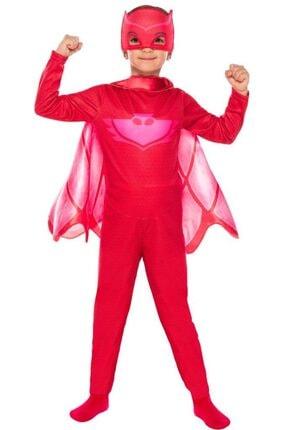 Pj Mask Pijamaskeliler Baykuş Kız Kostüm 4-6 Yaş