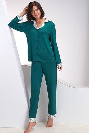 Sevim Kadın Düğmeli Pijama Takım