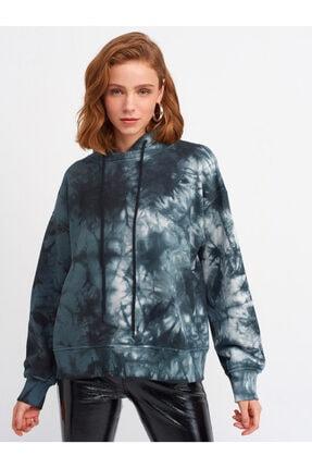Dilvin 3595 Batik Sweatshirt-füme-ekru