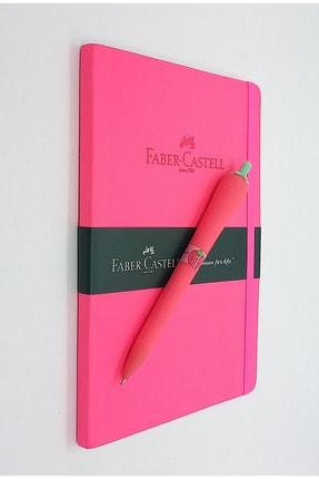 Faber Castell A5 Suni Deri Ajanda Ve Çilek 0.7 Versatil Silikon Mekanik Kalem