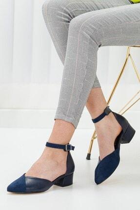 Hayalimdeki Ayakkabı Holly Lacivert Cilt-süet Topuklu Ayakkabı