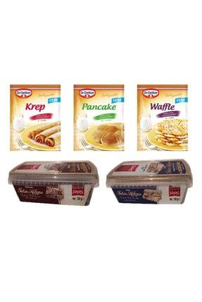 Dr. Oetker Krep Pancake Waffle Karışımı Ve Kakaolu,sade Helva 700gr