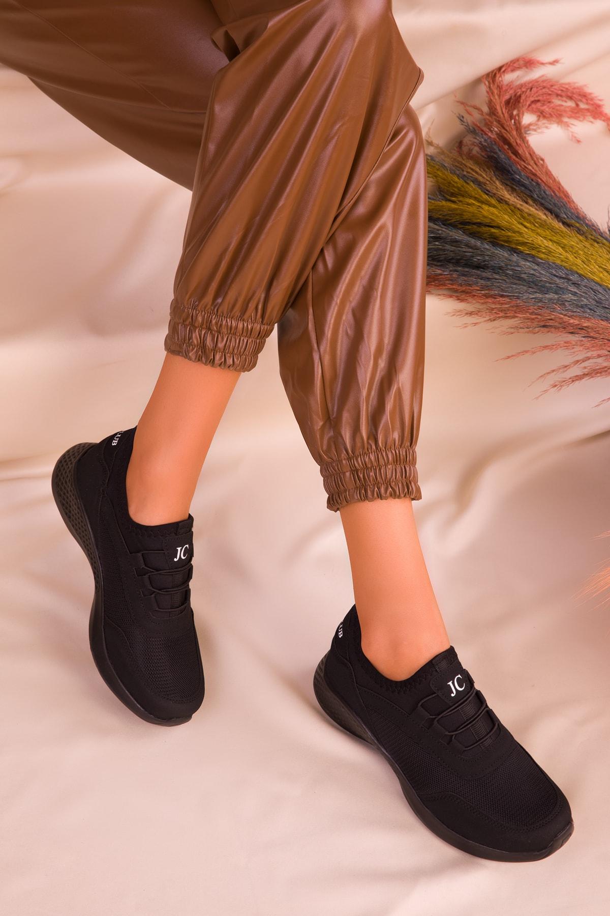 SOHO Siyah-Siyah Kadın Sneaker 15226 2