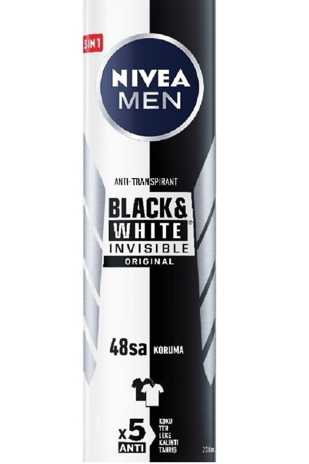 Nivea Men Invisible Black & White Original Erkek Deodorant 200ml 2