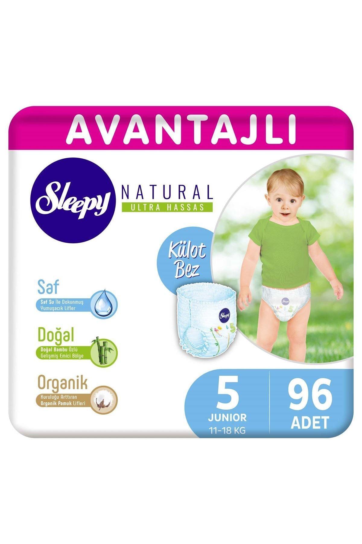 Sleepy Natural Avantajlı Külot Bez 5 Numara Junior 96 Adet 1